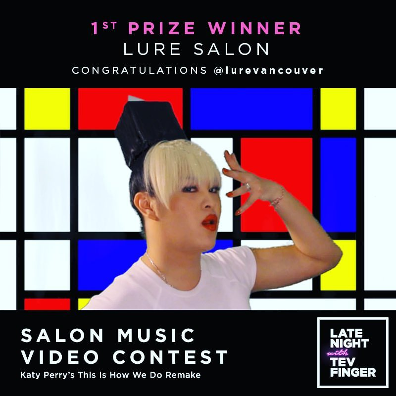 LURE Salon wins 1st place in Music Video Contest